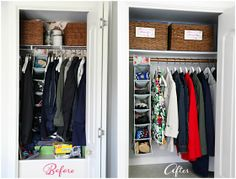 IHeart Organizing: A Little Coat Closet Refresh