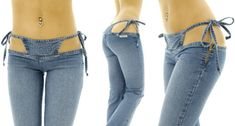 The Bikini Jeans designed by Sandra Tanimura at Japanese clothing company Sannas.----is this real???