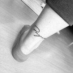 Purpose tattoo on the right achilles. Tattoo...