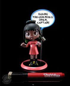 Star Trek cuteness! Trekkies Uhura Q-Pop PVC  Figure - you can write a quote on the word bubble!