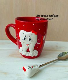 Surgeon Gift Dentist Gift Tooth Doctor Dental Mug Gift for Fimo Clay, Polymer Clay Projects, Polymer Clay Crafts, Clay Cup, Gifts For Dentist, Clay Charms, Cold Porcelain, Clay Creations, Bottle Crafts