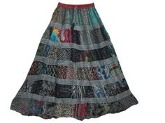 Bohemian Gypsy Skirt, Patchwork Skirt Multi Gray Boho Skirt Mogul Interior,http://www.amazon.com/dp/B00DYOXBPK/ref=cm_sw_r_pi_dp_drZ8rb1ANK2A4CWT