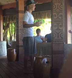 Justin Bieber em resort, em Bora Bora, na Polinésia Francesa (Foto: Acervo pessoal)