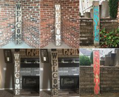 Wood welcome sign Wooden welcome sign Rustic by RustiqueSigns