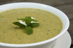 chilled sugar snap pea soup with lemon and mint