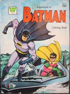 Vintage Batman Coloring Book