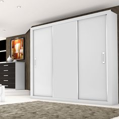 Gosta de uma #decoração mais clássica? Aposte no #guardaroupa #branco! #Prod155940