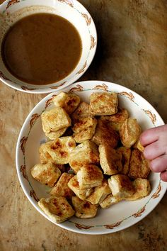 roasted tofu with dipping sauce - Gluten Free Girl and the Chef (could sub Tempeh) simple, I like simple. Tofu Recipes, Vegetarian Recipes, Cooking Recipes, Healthy Recipes, Cooking Tips, Tasty, Yummy Food, It Goes On, Organic Recipes