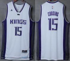 NBA Sacramento Kings 15 DeMarcus Cousins White Throwback Basketball Jerseys ea44c8105