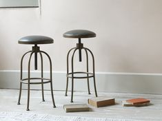 Breakfast is the most important meal of the day, so we've added an adjustable widget to our kitchen stool to ensure you're sitting pretty. Ikea Barstools, Kitchen Stools, White Leather Bar Stools, Breakfast Stools, Adjustable Stool, Kitchen Sale, Making Space, Comfy Sofa, Counter Height Stools