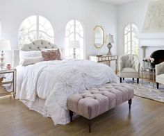 Feminine bedroom fea