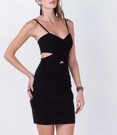 Vestido com Recortes Laterais  - Lojas Renner