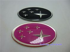 Find More Stickers Information about 3D Subaru 75*45mm Sticker  Forester Legacy Impreza Outback Tribeca XV logo Badge Pink/Black,High Quality badge print,China subaru legacy badge Suppliers, Cheap badge shirt from Wheel hub cover manufacturer on Aliexpress.com