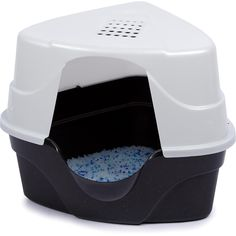 """24""""; L X 21""""; W X 21""""; H, Advanced plastic technology makes this litter box a must have. Antimicrobial agents inhibit the growth of odor causing bacteria on the litterbox. Corner design fits in small spaces."""