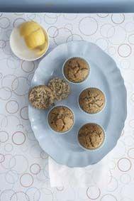 Suurlemoen-en-papawersaad muffin
