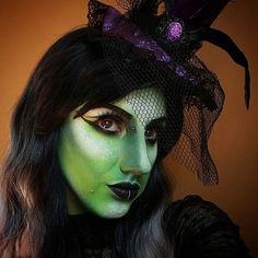 Wicked Witch Stay tuned for the tutorial Products I used: @mehronmakeup Light Green  White Paradise AQ @sugarpill Midori Tako @makeupgeekcosmetics Envy Corrupt @urbandecaycosmetics Electric P: Thrash Revolt @colourpopcosmetics Bullchic lippies @lush_wigs Baby pink ombre wig by sara_strange_art