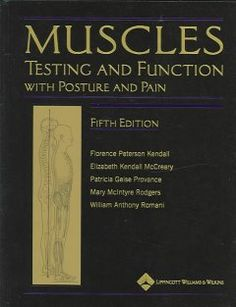 Muscles : testing and function with posture and pain - This renowned classic provides unparalleled coverage of manual muscle testing, plus evaluation and treatment of faulty and painful postural conditions