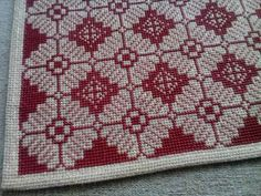 Cross Stitching, Cross Stitch Embroidery, Embroidery Patterns, Cross Stitch Patterns, Needlepoint Stitches, Needlework, Palestinian Embroidery, Crochet Bedspread, Hobbies And Crafts