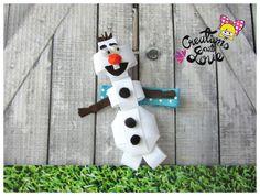 Snowman de Olaf había inspirada pinza de pelo de por creationslove
