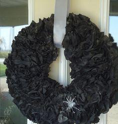 "SALVAGED WHIMSY: Halloween ""Trash"" Wreath Tutorial"