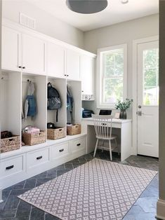 Need some ideas for mudroom? Here we have a list of 20 mudroom ideas that will help keep your house organized and clutter-free Entry Way Lockers, Kids Locker, Gazebo, Mudroom Cabinets, New Homes, House Design, Garden Design, Interior Design, Mud Rooms