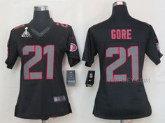 ONLINE NIKE 49ERS 21 GORE BLACK IMPACT WOMEN LIMITED 2013 SUPER BOWL XLVII JERSEY, Only$36.00 , Free Shipping! http://www.yjersey.com/online-nike-49ers-21-gore-black-impact-women-limited-2013-super-bowl-xlvii-jersey.html