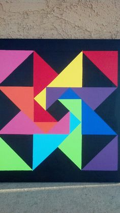 Whirling Star barn quilt