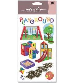 EK Success Sticko Stickers-Playground