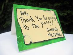 Plants vs Zombies Party Printable , Do an invite card instead of a thank you card.