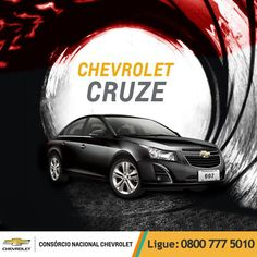 Chevrolet #Cruze, design tão imponente e sofisticado que poderia protagonizar qualquer filme de ação.  www.consorciodeauto.com.br