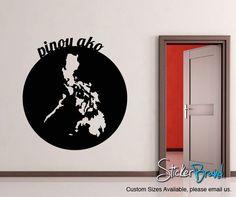 Vinyl Wall Decal Sticker Pinoy Ako Filipino #OS_MB188