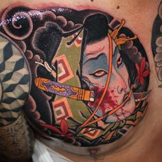 Instagram post by Victor Chil /Family Art Tattoo • Jun 21, 2019 at 12:02pm UTC Irezumi Tattoos, Leg Tattoos, Body Art Tattoos, Tattoo Ink, Arm Tattoo, Sleeve Tattoos, Japanese Mask Tattoo, Chinese Dragon Tattoos, Chinese Tattoo Designs