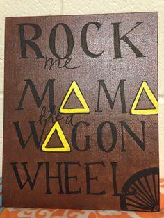Tridelta big little week! #tridelta #rockmemama %wagonwheel