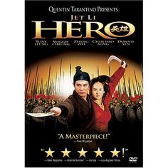 Jet Li is the fearless, nameless soldier in HERO. Great scenery, lots of action. All Jet Li. A film by Quentin Tarantino Dolby Digital, Quentin Tarantino, Hero Movie, Movie Tv, Movie List, Hero Jet Li, Assassin, Karate, Kung Fu Movies
