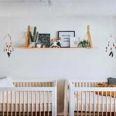 Currently crushing on clean line, gender neutral nurseries with cool wooden mobiles. Baby Girl Nursery Decor, Baby Boy Rooms, Nursery Design, Baby Boy Nurseries, Nursery Ideas, Chic Nursery, Playroom Ideas, Baby Design, Nursery Twins