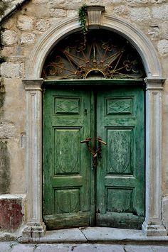 Beautiful patina on this door.