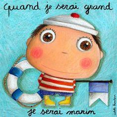 """Tableau d'Isabelle Kessedjian """"Quand je serai grand, je serai Marin"""" - Le Coin des Créateurs"""