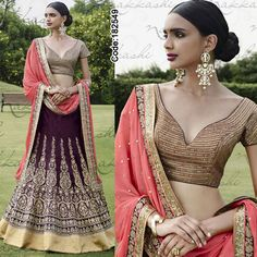 Biggest Sale ever!! #Pink and #Magenta Lehenga!   #FloralMotif #Volume #Layers #Embroidery #Designer #Occasion #IndianDresses #Partywears #Indian #Women #Bridalwear #Fashion #Fashionista #OnlineShopping #Lehenga *Free Shipping Worldwide*