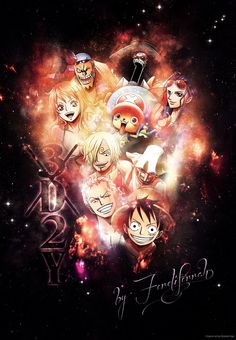 I just wanted to Design something on Photoshop so that is what came out. U see luffy, zoro, usopp, sanji, nami, chopper, nico robin, Franky and Brook in this pic and some text I think u know why i ...