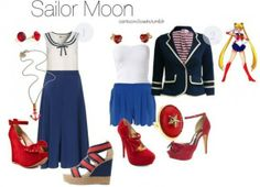 """Dress up like you are """"Sailor Moon"""" Sailor Moon Outfit, Sailor Outfits, Sailor Moon Cosplay, Disney Outfits, Casual Cosplay, Cosplay Outfits, Anime Outfits, Cosplay Ideas, Nerd Fashion"""