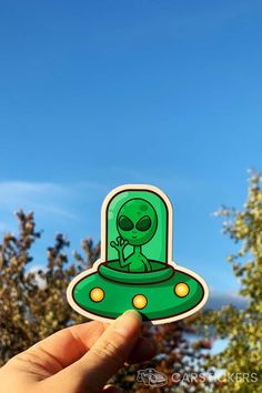 Shop cool alien stickers like this one online at Car Stickers today!