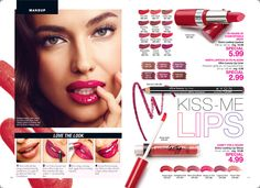 Use our conditioner, lip liner, lipstick, and lip gloss to get beautiful kissable lips. All on Sale $2.99 - $5.99 each. lindasbeautyforyou.com #avonrep