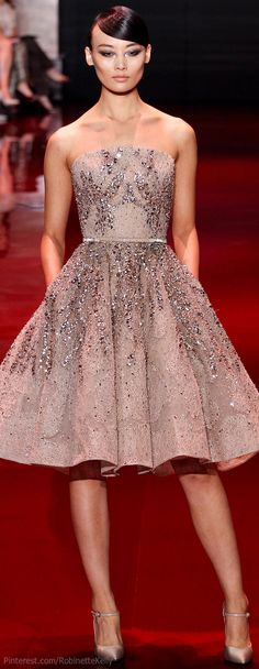 OH MY GOD! This whole show! Every look! Do yourself a favor and tjeck them out!! <3 Elie Saab Haute Couture | F/W 2013 Red carpet. I would wear this with a sweater so fast!