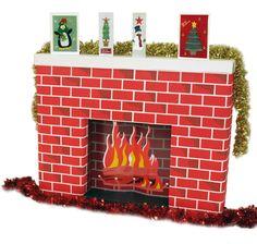Faire une fausse cheminée avec des boîtes en carton