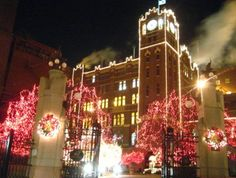 Christmas lights at The Anheuser Brewery ~ St Louis ,MO