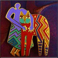 Best Friends - Near Mint Rare Retired Pin/Brooch by Laurel Burch