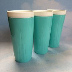 A Pair and a Spare Turquoise Twinsulated Tumblers by Beautalicious