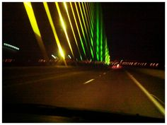 Skyway bridge by night
