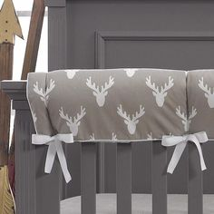 Buck Woodland Taupe Crib Rail Cover