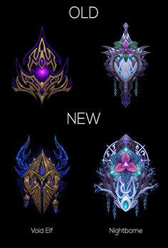 Blizzard updated the Void Elf and Nightborne race crests World Of Warcraft Game, Warcraft Art, Fantasy Landscape, Fantasy Art, Final Fantasy, Wow World, Elemental Magic, Night Elf, Magical Jewelry
